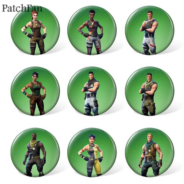 10sets/lot Patchfan game 9pcs/set Pins backpack clothes brooches for men women diy  hat clothes decoration badge medal A1133 2