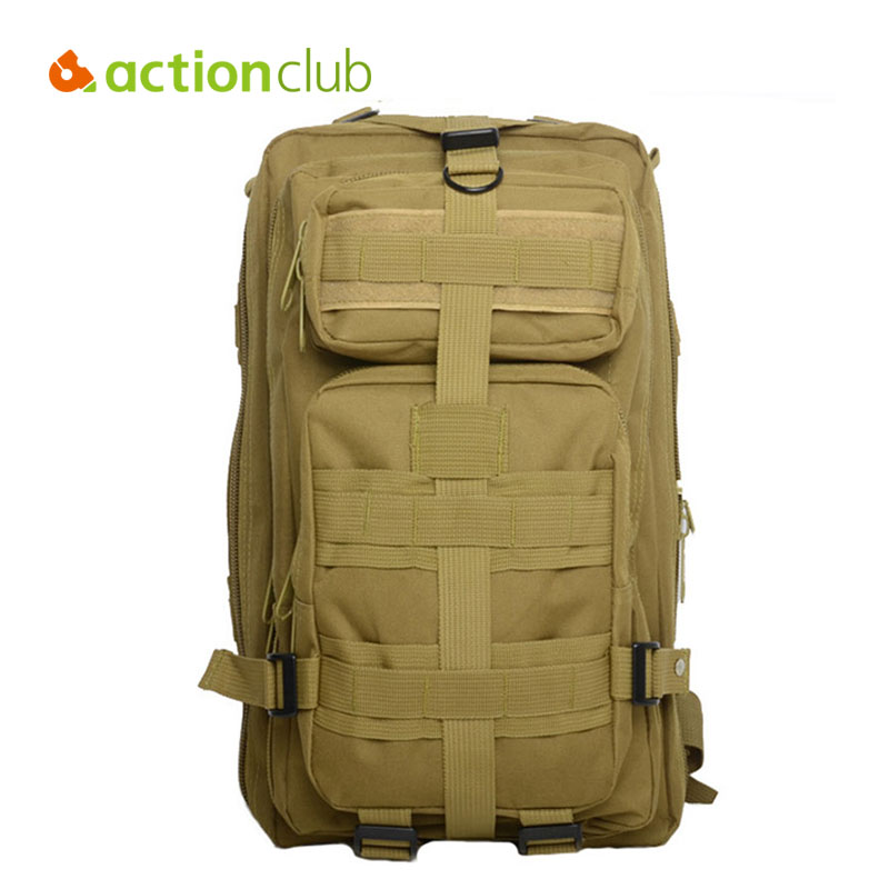 Actionclub <font><b>Outdoor</b></font> Sport Multifunction Camouflage Backpack Men Rucksack Military Army Tactical <font><b>Bags</b></font> 30L Travel Camping Backpack