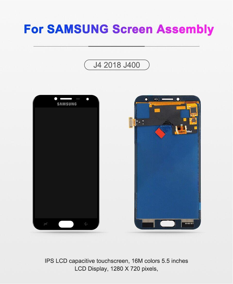 HTB1gMF7PMHqK1RjSZJnq6zNLpXaa J4 Display Touch Screen Digitizer Assembly For Samsung Galaxy J4 2018 J400 j400F LCD Display J400F/DS Display Screen Replacement