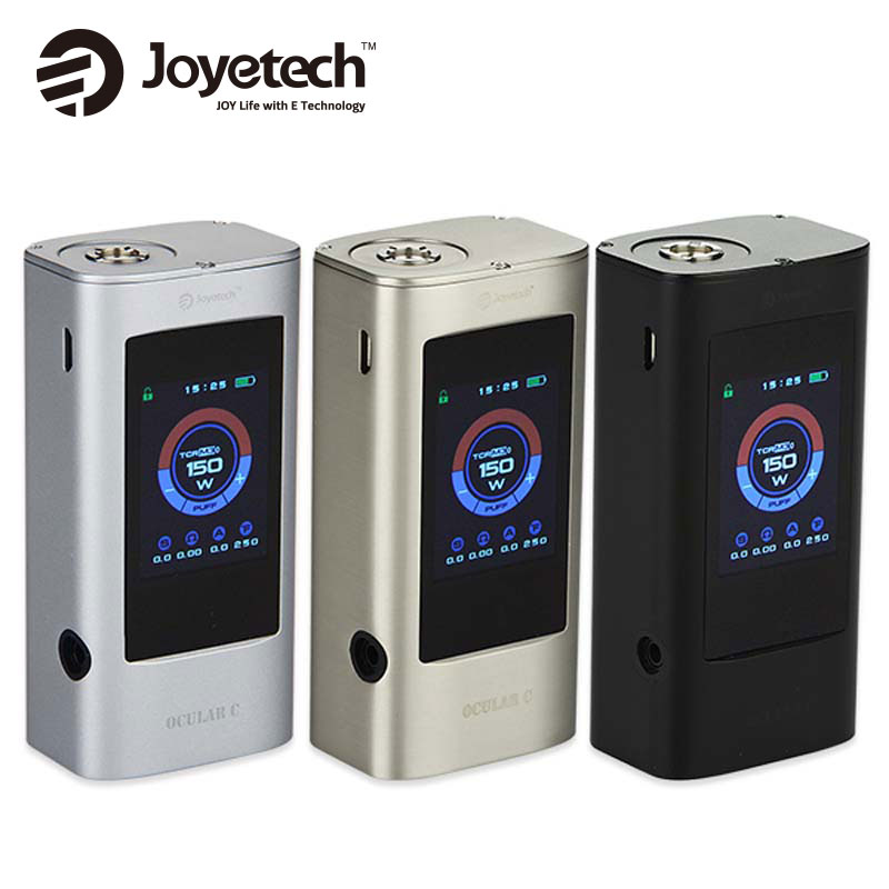 Original 150W Joyetech Ocular C Mod 150W Box Mod without 18650 Battery Bluetooth Touchscreen Ocular C 150W Mod Vape Vaporizer original joyetech cuboid mod 150w for wismec theorem rta tank 2 7ml atomizer without 18650 battery electronic cigarette vape kit