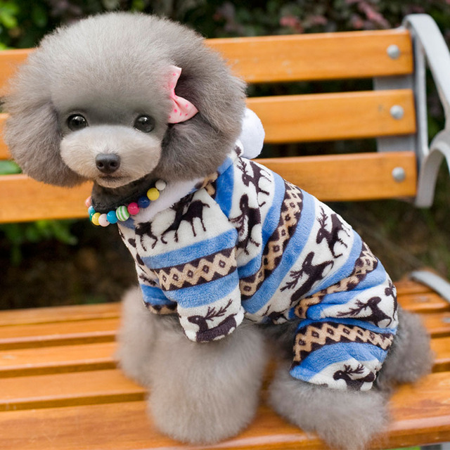 Winter Pet Dog Clothes Warm Outfit For Small Dog Soft Fleece Chihuahua Clothes Coat Dog Clothing Jacket Yorkies S-XXL 30S1