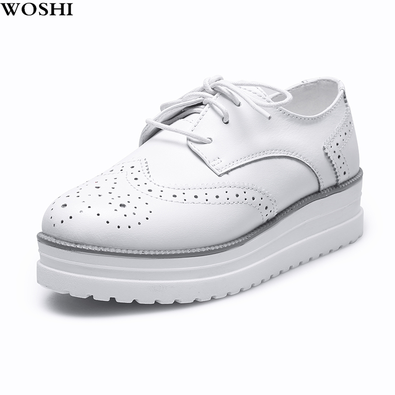 Women Leather Shoes outdoor Flat platform Brogue party Shoes ladies Casual zapatos de mujer lace up oxfords shoes women l5Women Leather Shoes outdoor Flat platform Brogue party Shoes ladies Casual zapatos de mujer lace up oxfords shoes women l5