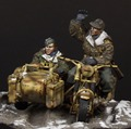 Resin Kits  1/35 German motor soldiers (not include the motor )      Unpainted Kit Resin Model Free Shipping