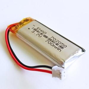 JST PH 2,0 2pin 3,7 В 700 мАч 702050 литий-полимерный аккумулятор для Mp3 наушников PAD DVD электронная книга bluetooth Камера