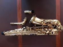 Новый Yanagisawa AW01 альт саксофон золотой лак E плоский Sax профессиональные инструменты с мундштуком, чехол, аксессуары