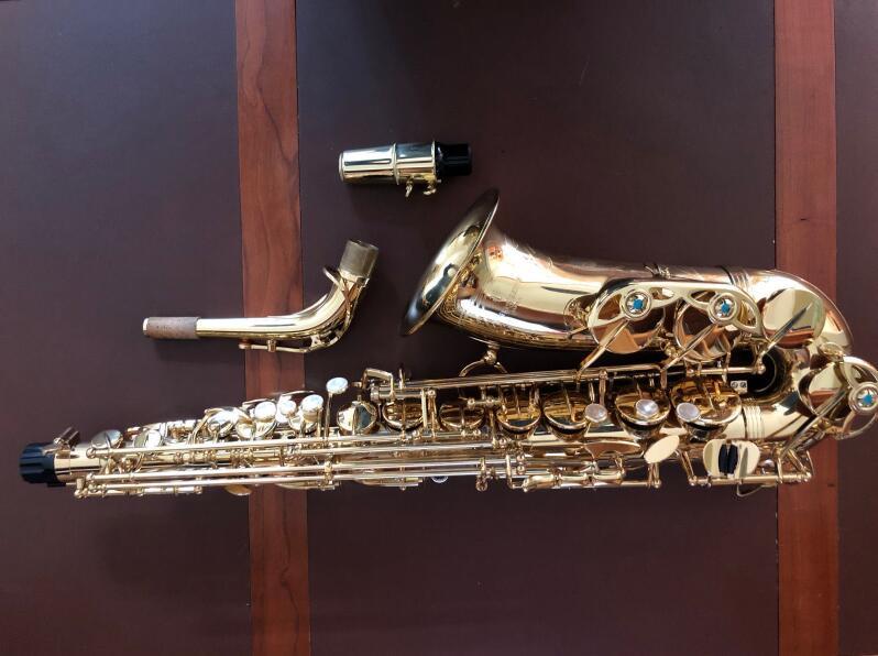 Nuevo Yanagisawa AW01 saxofón Alto laca dorada E instrumentos profesionales saxo plano con boquilla, funda, accesorios