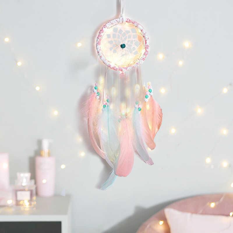 DIY atrapasueños decoración de Color habitación de bebé decoración colgante de pared protectores de cama niños fiesta niños niñas habitación Decoración