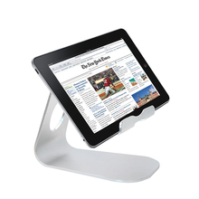 Universal Phone Tablet Aluminum Alloy Desktop Stand Mount Holder With Anti-slip Silicone For iPad Air 2 3 FW1S
