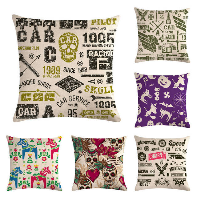 Nordic New Flower With Skull Cushion Covers Beautiful Plant Throw Pillow Cover Sofa Decorative Pillow Case Home Decor