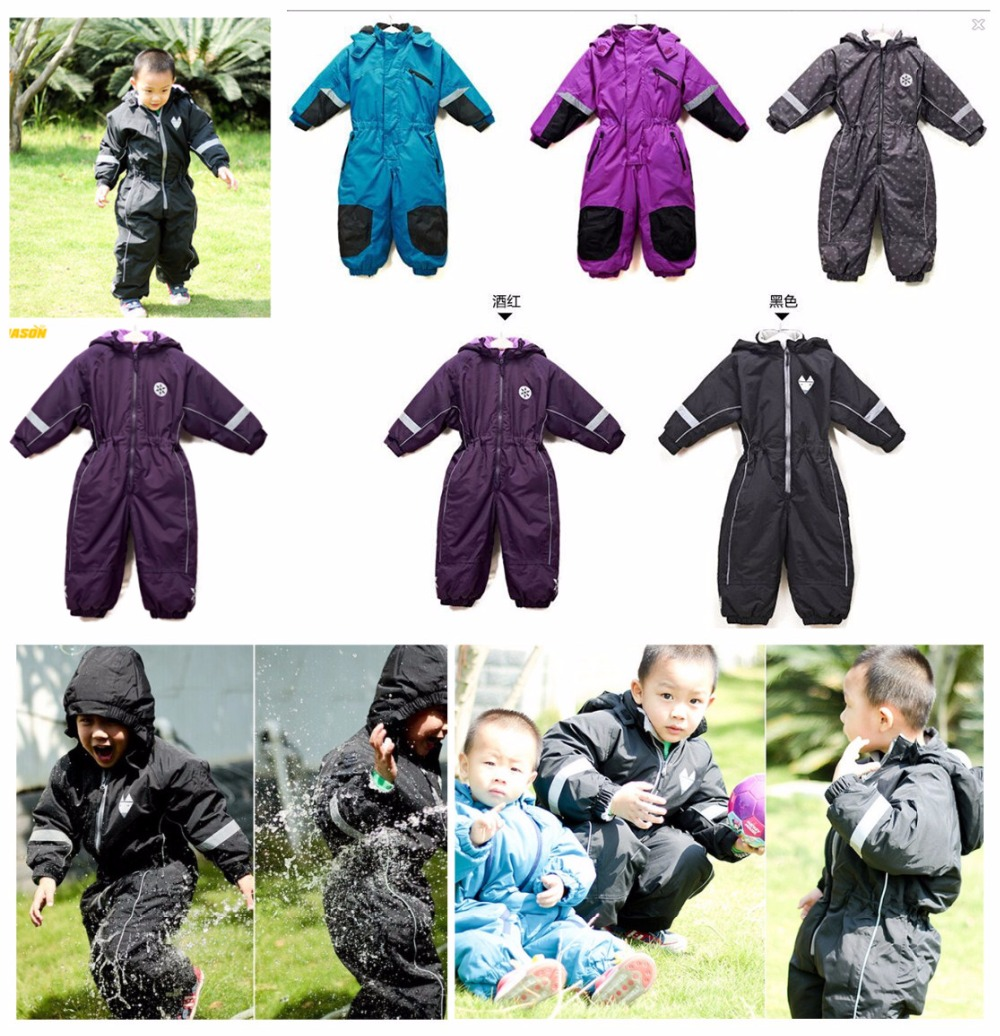 Warm children s outdoor clothing more cotton padded clothes conjoined ski jacket and cotton with winter