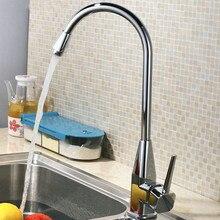 Бесплатная доставка Хит продаж твердая латунь Кухня Раковина кран с бортике кухонный кран для горячей и холодной хром смеситель для кухни