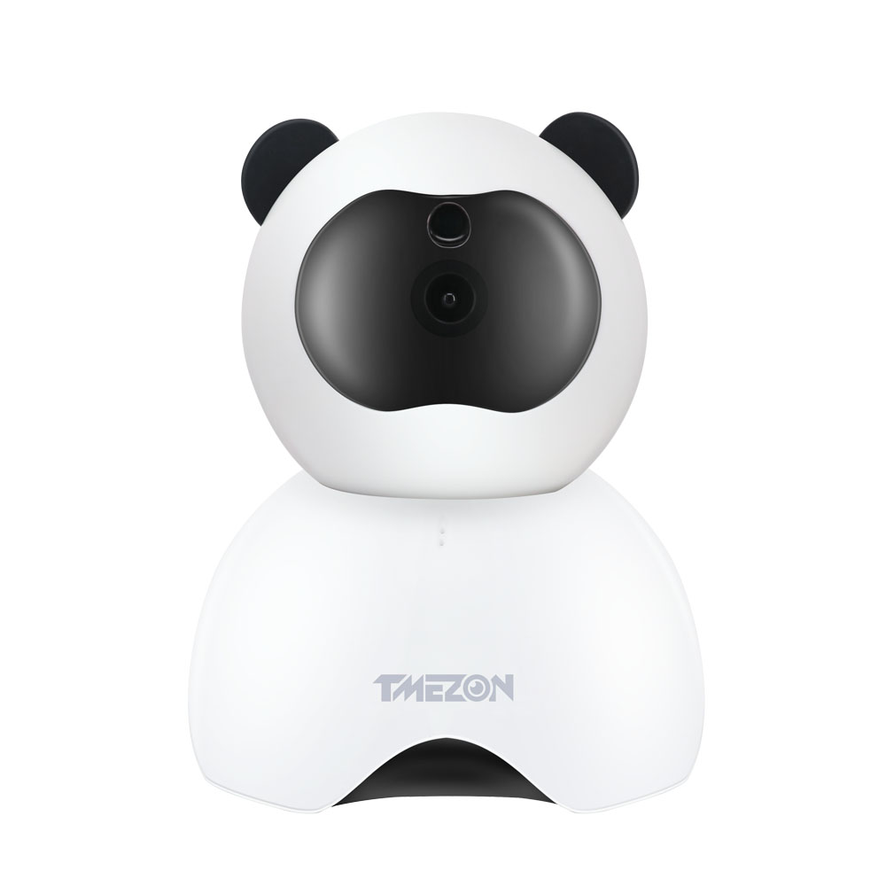 Tmezon Smart Baby Monitor Cute Panda Wifi Wireless IP Camera HD 1080P Home Indoor Security Surveillance System Wide Angle View