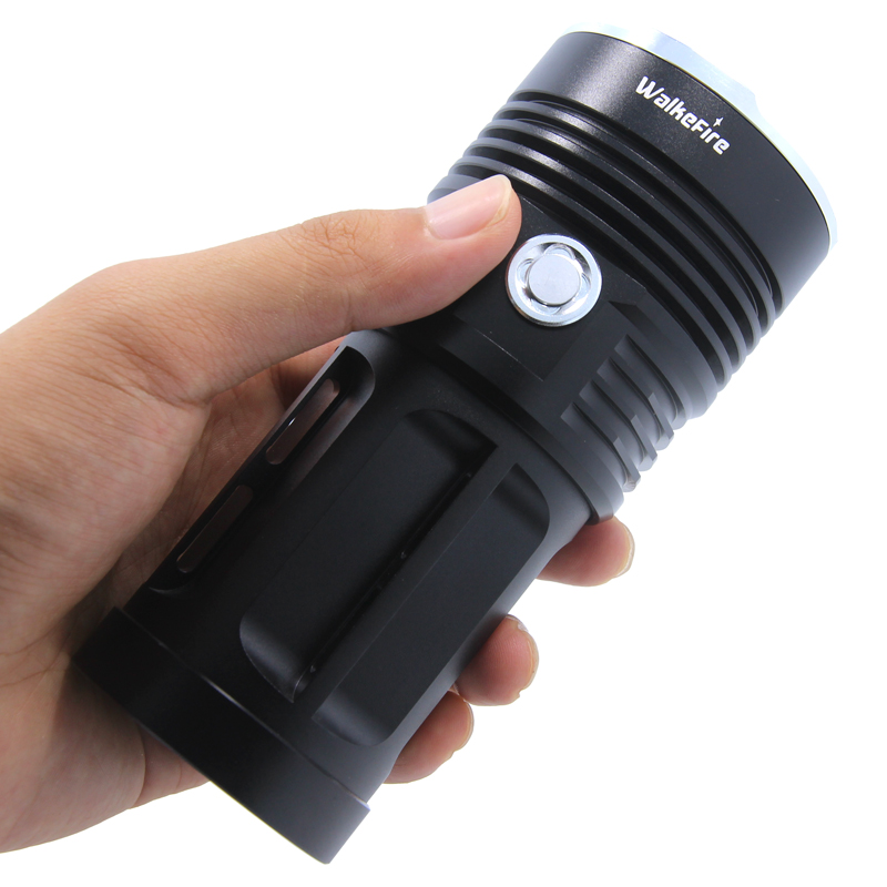 Super Power 3-18 * XM-L T6 led Flashlight Torch Lamp flash light Waterproof fishing Hunting Lamp use Rechargeable 18650 Battery