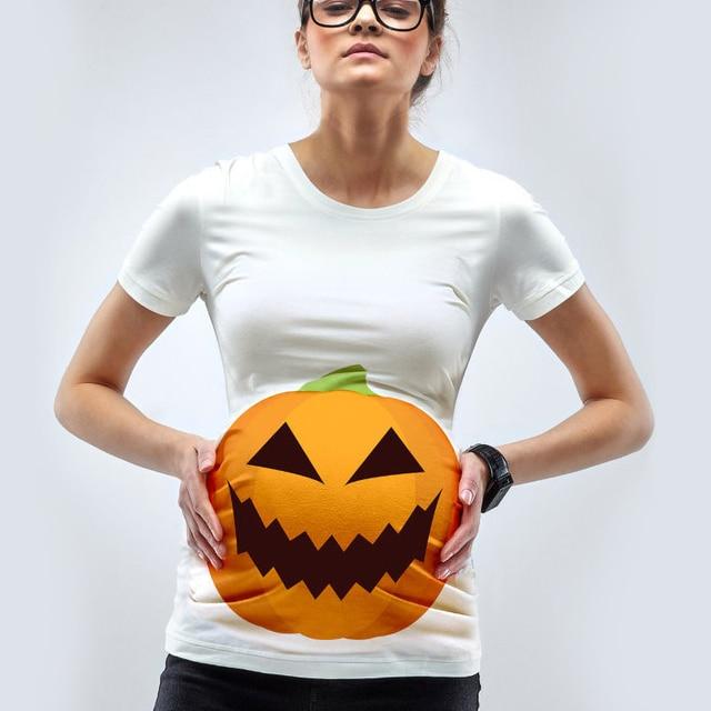 4e07c6d7fc764 Godier Maternity Halloween Pumpkin T-Shirt Funny Pregnancy Maternity Top  Pregnant Tee Shirt For Pregnant Women Maternity Clothes