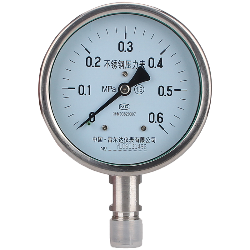Leierda full stainless steel pressure gauge acid resisting anticorrosive gas pressure meter anti-rust pointer table Y-100BF homeleader 7 in 1 multi use pressure cooker stainless instant pressure led pot digital electric multicooker slow rice soup fogao