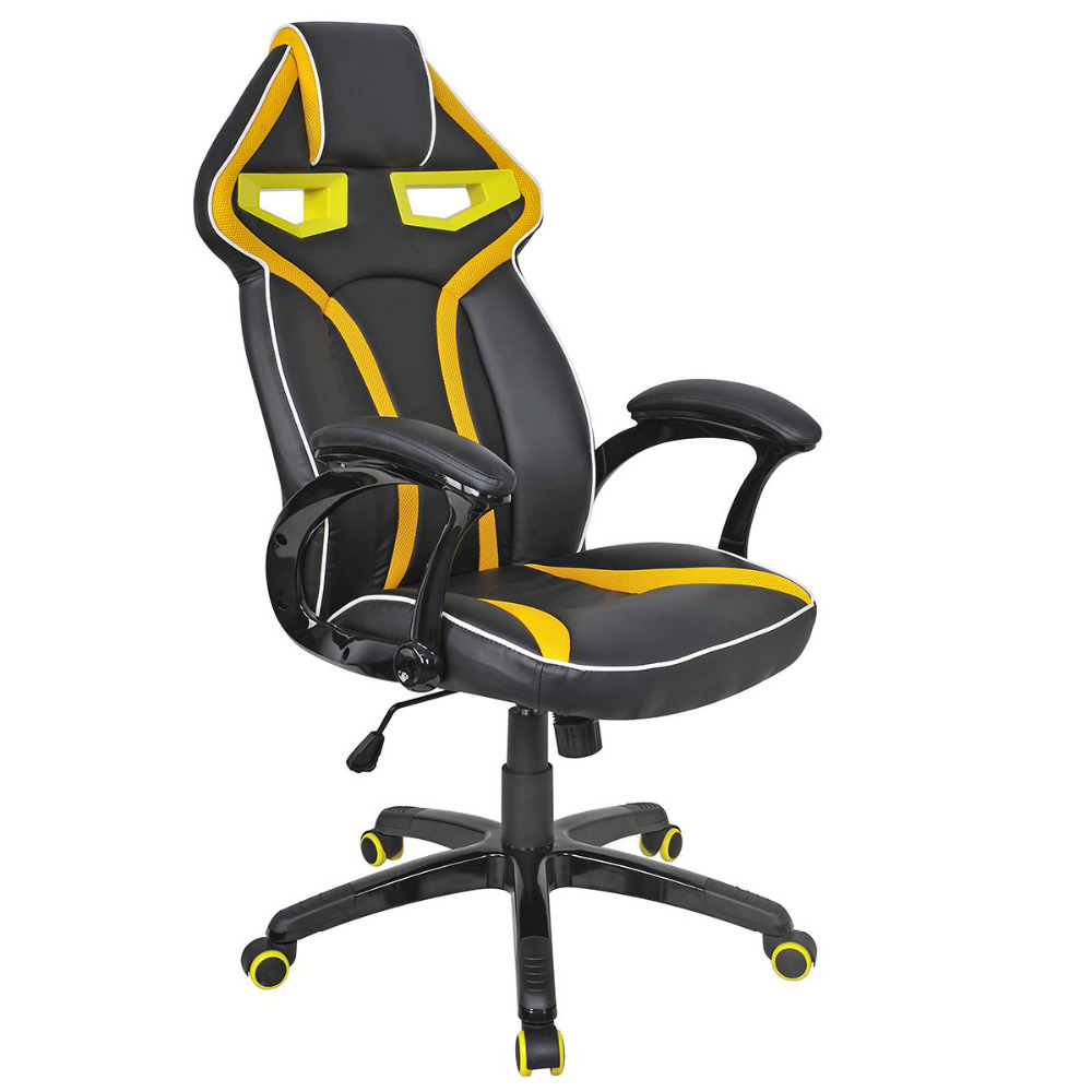 Racing Bucket Seat Office Chair High Back Gaming Chair Desk Task Ergonomic New HW54987YE 240340 high quality back pillow office chair 3d handrail function computer household ergonomic chair 360 degree rotating seat
