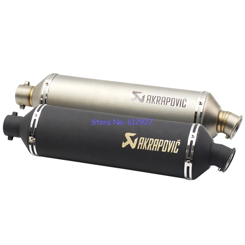 Length 560mm Inlet 51mm Left Side Akrapovic Motorcycle Exhaust Pipe Muffler Escape with DB Killer
