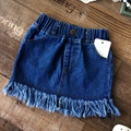 Baby Girls Casual Denim Skirts Girl Mini Cute Tassel Skirt Kids All-match jean Skirts Toddler girls clothing