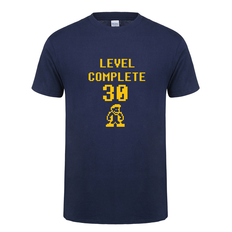 Fitness New Level Complete 30 Men T Shirts Hipster Streetwear Cotton Birthday Top Tees T-Shirt 30 Years Old Man Tshirt