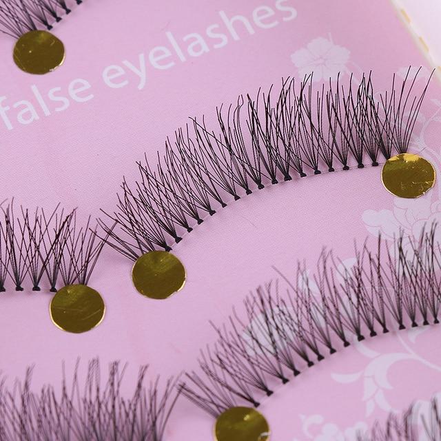 HOT!! 5 Pairs Natural Handmade Women Lady Cross Long Fake Eye Lashes Black Sparse Natural False Eyelashes Makeup Tools False Eyelashes