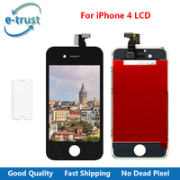 E Trust 1pcs AAA Quality No Dead Pixel With 3D Touch Display For Iphone 4 Lcd