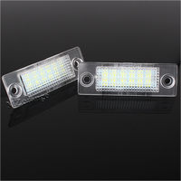 LED License Plate Lights For VW Caddy 3 Golf 5 Plus Jetta 5 Passat B5 5