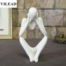 Vilead天然砂岩瞑想置物ミニチュア思想家小像ホームデコレーションクリエイティブお土産ギフト新年