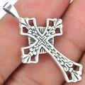 Гарантия Простой Стерлингового Серебра 925 Крест кулон, 39 мм, 3.3 г, SPJ2103
