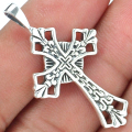 Guarantee Plain 925 Sterling Silver  Cross pendant  , 39mm, 3.3 g,  SPJ2103