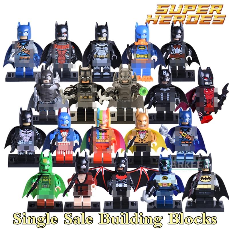 1PC New Batman The Dark Knight Batman VS Superman Super Hero Avengers Starwars Building Blocks DIY Figures Bricks Kids DIY Toys batman legends of the dark knight volume 2