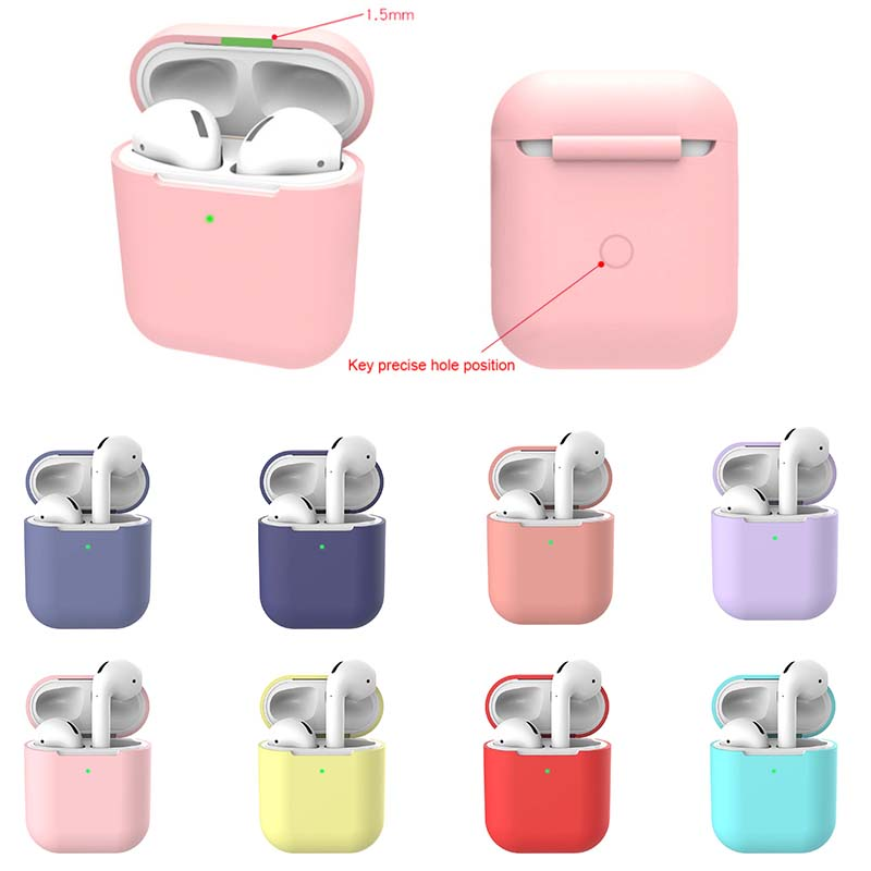 Silicone TPU Bluetooth Wireless Earphone Case Protective Cover Skin Accessories for Apple Airpods 2 2nd Generation Charging Box image