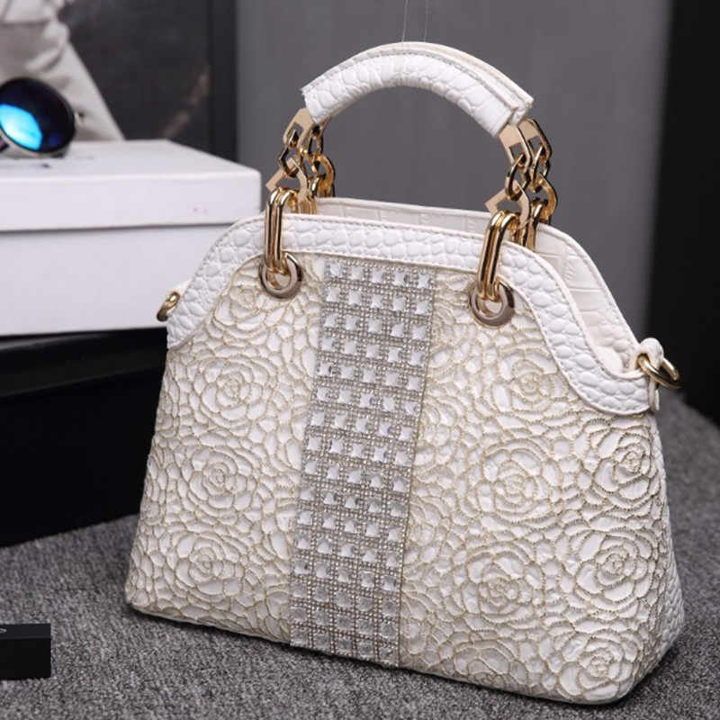 Роскошные модные женские сумки с бриллиантами из крокодиловой кожи через плечо, женская сумка через плечо со стразами, сумки-мессенджеры