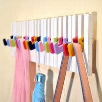 Multicolour piano folding fashion muons wall decoration clothes hanging hook coatless horpsichord wall