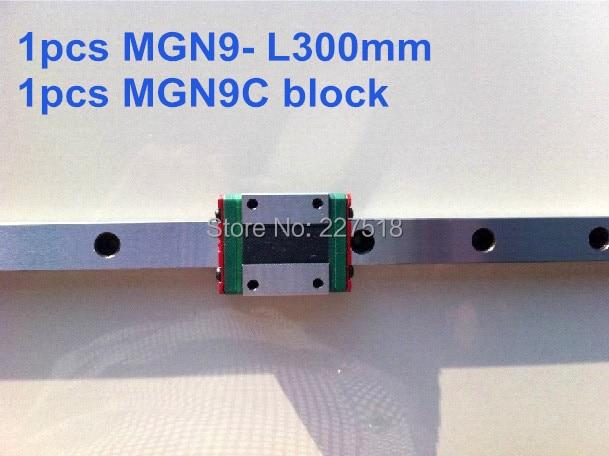 1pcs linear rail MGN9 300mm with mini MGN9C 1pcs linear rail mgn9 500mm with mini mgn9c