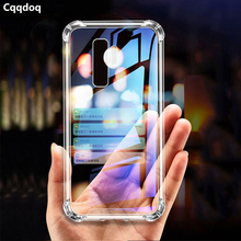 Cqqdoq Anti-Fall Airbag Protection Phone Case For Samsung Galaxy S8 S9 S10 Plus lite Note 8 9 Soft TPU Transparent Cases Coque
