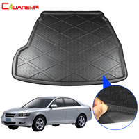 Cawanerl Car Cargo Mat Floor Boot Tray Liner Rear Trunk Carpet Kick Mud Luggage Pad Styling For Hyundai Sonata NF
