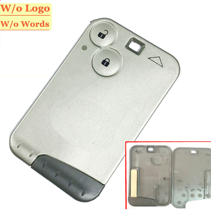Фотография free shipping(5pcs/lot) 2 button remote card shell for laguna grey blade (no words no logo)