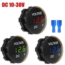 DC 12V-24V LED Digital Voltmeter Voltage Display for Car Motorcycle Waterproof Meter LED Panel Digital Volt Display Voltmeter все цены