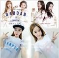 MAMAMOO solo DABDAB ÁNGEL apoyo alrededor de la estrella Wen Hua Sha Le Hui canción con una manga corta Camiseta de algodón