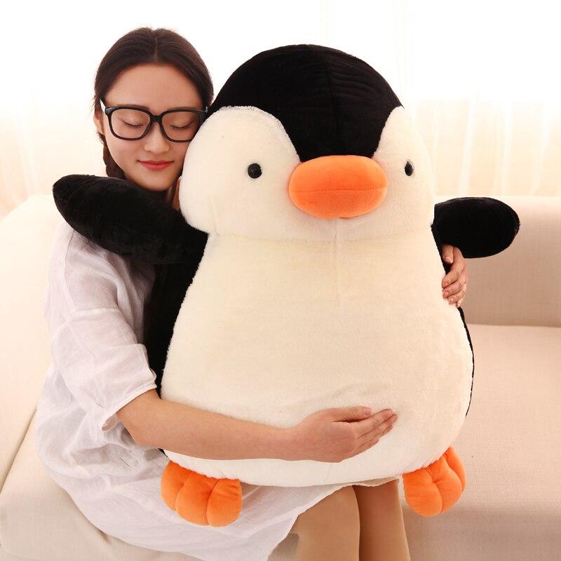 Grand 65 cm mignon dessin animé pingouin en peluche jouet doux poupée calin oreiller jouet cadeau de noël s2493