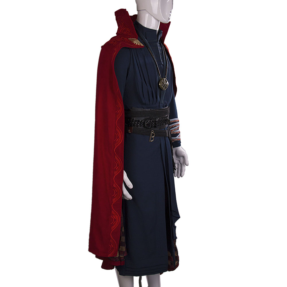 All Include Cosplay Doctor Strange Steve Full Set Costume & Ring Eye of Agamotto Necklace Free Halloween Party (4)