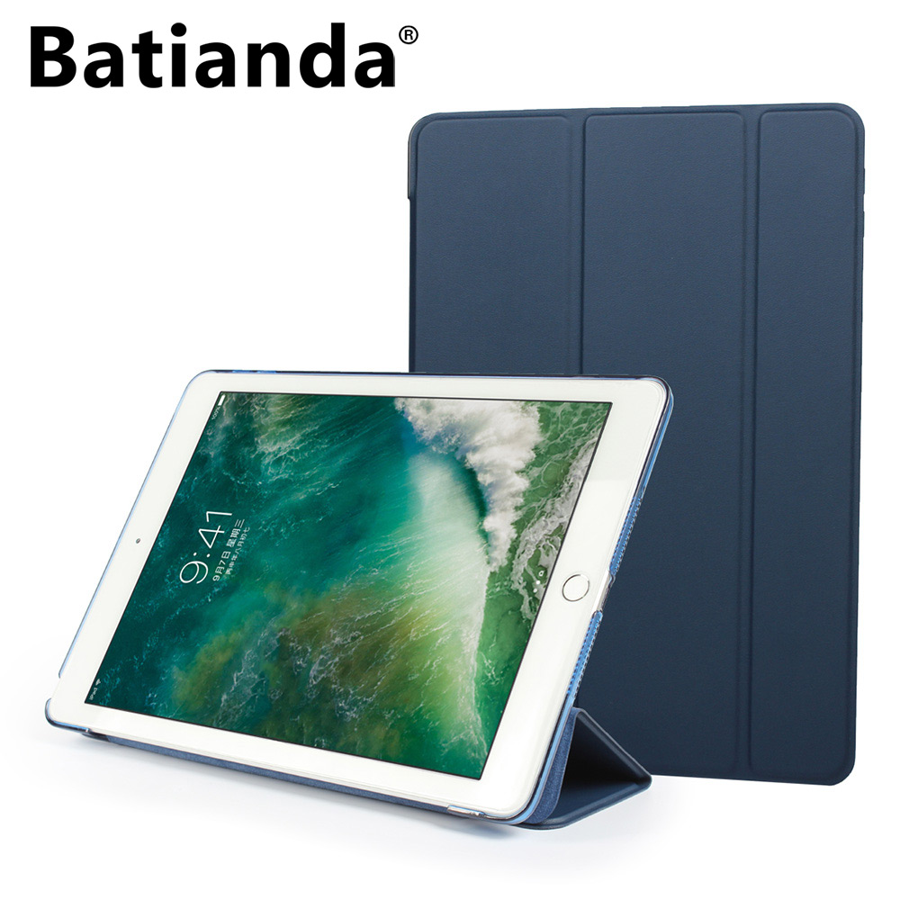 Smart Case for New iPad 9.7 inch 2017 Model Ultra Slim PU Leather Cover Flip Auto Wake Up Sleep Magnetic Navy Sleeve pu leather ebook case for kindle paperwhite paper white 1 2 3 2015 ultra slim hard shell flip cover crazy horse lines wake sleep