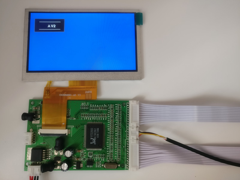 4.3 Inch 480*272 LCD Screen Controller Display With VGA 2AV Driver Board Monitor