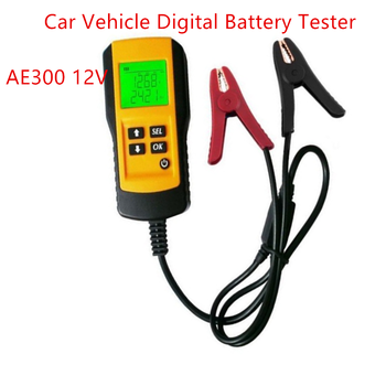 Car diagnostic tool tester AE300 12V Vehicle Car Battery Test Analyzer Tools CCA With LCD Digital Display Checker AE300 digital 12v car battery tester vehicle car lcd battery test analyzer auto system analyzer voltage ohm cca test diagnostic tools