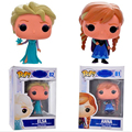 Original Box FUNKO POP Snow Queen Princess Anna Elsa Action Figures Boneca PVC Model Collection Kids Toy Gift