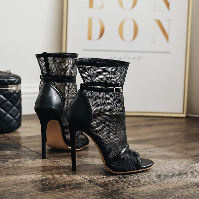Et Mode Nouveau La Taille Noir Hauts Mince Sexy Bouchepoisson À Chaussures Femmes Talons Super 35 Hiver 40 2018 De Automne Sandales dTxXYd