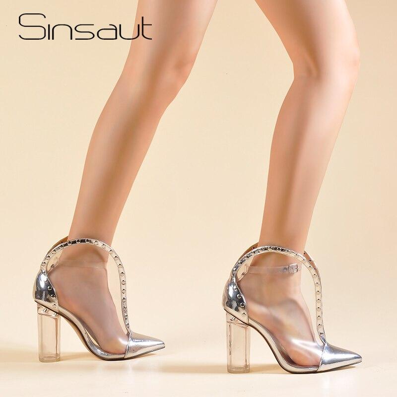 Sinsaut chaussures femmes rondes talons clairs bottines talons hauts bottes transparentes chaussures Sexy chaud Perspex PVC femmes bottesSinsaut chaussures femmes rondes talons clairs bottines talons hauts bottes transparentes chaussures Sexy chaud Perspex PVC femmes bottes