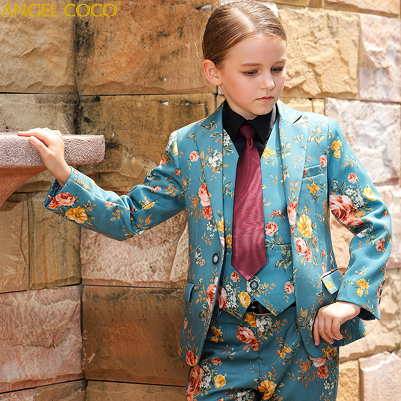 Boutique Host Show Catwalk Show Fashion Girl Suit Handsome Toddler Flower Boys Wedding Show Performance Formal