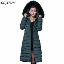 Winter Jacket Women 2018 New Winter Coat Women Long Parka Luxury Fur Cotton-Padded coat Women Wadded Jackets Plus Size 5XL