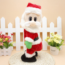 Christmas Electric Music Swing Buttocks Santa Claus Doll 2017 Christmas Decorations For Home Children Toys Xmas